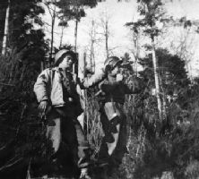 Nye (left) with unidentified scout